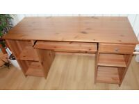 Oak IKEA Desk / Computer Table (with pull-out for keyboard)