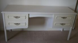 Schreiber Ivory Dressing Table and 2 Bedside Cabinets
