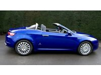 Perfect car for the summer! Alfa Romeo Spider JTDM 2007. The best colour! High Spec. Stunning car.