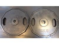 2x20Kg & 2x2.5Kg Olympic Rubber Plates