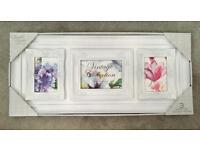New - Vintage style white photo frames - large - new in box