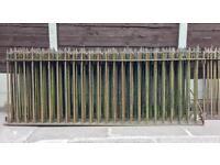 100 year old iron church railings (200ft)