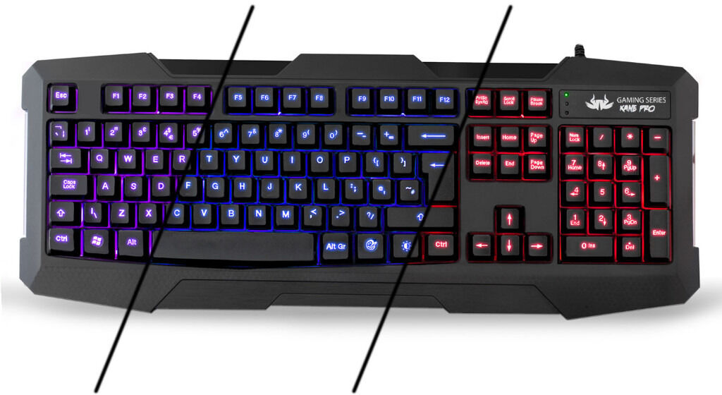 Nemesis KANE PRO LED Backlit Keyboard (Blue, Red, Purple LEDsin Liverpool City Centre, MerseysideGumtree - Used Nemesis KANE PRO LED Backlit Keyboard (Blue, Red, Purple LEDs) with with dedicated keys for colour change and brightness. In good condition, couple of kinks in the USB cable which do not affect the keyboard. Collection only thank you