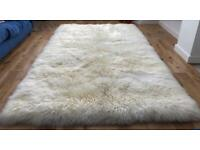 Brand new large stunning sheepskin rug by Bowring. Fully lined/backed and edged.