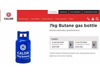 Empty 7kg Calor Gas bottle