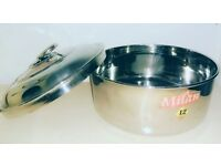 Stainless Steel Round Chappati/Pori Canister
