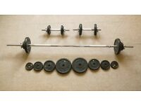 Dumbell, Barbell, Gym Weights Set. West London.