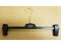 1100pcs x Wholesale Joblot Job Lot Adjustable Black Trouser Clip Hangers 36cm Shops Warehouses