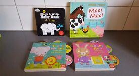4 x baby/toddler books