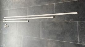 3 plastic curtain tracks (for FREE)
