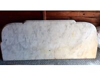 Large Vintage MARBLE Washstand TOP / SPLASHBACK