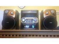 Philips 3CD, Radio, Mp3/Phone Aux and Tape Stereo System Speakers
