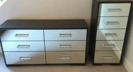 Reduced Two sets of Mirror fronted draws