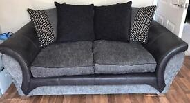 REDUCED 2 Large Grey/Black DFS Jive Sofas - RRP £1,500