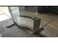 Glass topped coffee table ** price reduced**