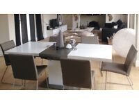 BOCONCEPT dining table and chairs