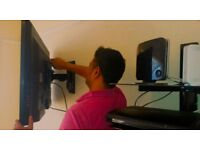 TV wall mounting, Audio Video wiring and installations