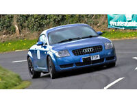Audi TT Quattro 2001, Denim Blue, 260bhp, lowered, Haldex Blue - Motorsport on a budget!