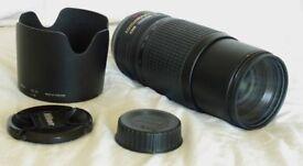 Nikon AF-S 70-300mm F4.5 lens. VR ED IF