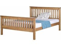 Kingsize Solid Pine Bedstead with High Footend