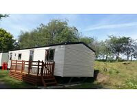 2012 Willerby Rio used Caravan, central heating, deck on pet friendly, quiet independent park