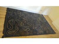Paisley Rug Large! 7.5 ft by 5.5 ft blue like new