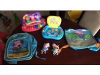Peppa Pig bundle laptop piano bags key rings soft toy