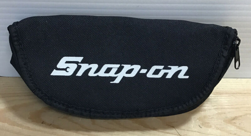 Snap On Tools Authentic Sunglass Pouch Holder Carry Black & White New #E