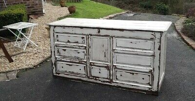 Antique, bohemian painted blanket Box Chest, shabby chic sideboard can deliver