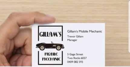 Gillam's Mobile Mechanic  Perth Perth City Area Preview