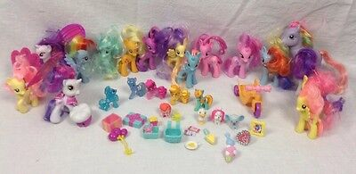 HUGE LOT MY LITTLE PONY 21 Ponies And 20 Extras Pinky Pie Rainbow Dash Rarity (Rainbow Dash 20)