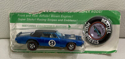 VINTAGE 1967 HOT WHEELS REDLINE TNT BIRD Spoiler BLUE Factory Sealed W/button