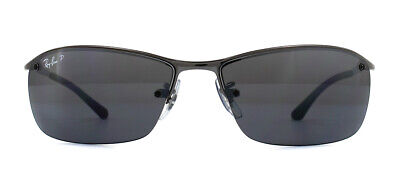 Ray-Ban RB3183 Sunglasses Gunmetal 004/82 Polarized Grey Mirror Silver Gradient
