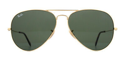 Ray-Ban Aviator RB3025 Sunglasses Gold 181 Dark Green 62mm