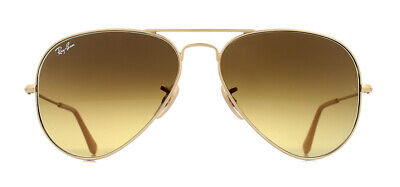 Ray-Ban Aviator RB3025 Sunglasses Matte Gold 112/85 Brown Gradient 58mm
