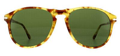 Persol PO6649S Sonnenbrille Gelb Landschildkröte 10614E Grün 55mm