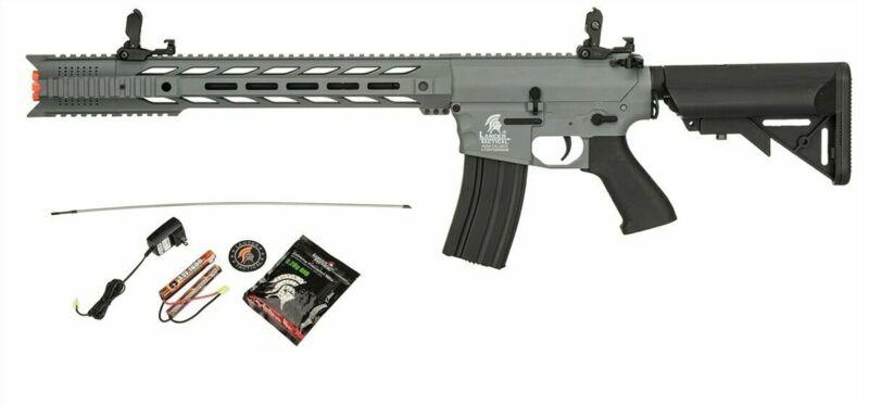 GREY Lancer Tactical Interceptor Gen 2 SPR Airsoft Rifle + 9.6v + Charger