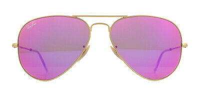 Ray-Ban Aviator RB3025 Sunglasses Gold 112/4T Cyclamen Pink Flash 58mm