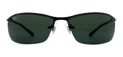 Ray-Ban RB3183 Sunglasses Matte Black 006/71 Green 63mm