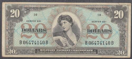 US MPC 20 Dollars Note Series 661  VF