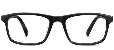 Warby Parker Becton Jet Black Matte Eyeglasses Brand New 55-17-140 Extra (Extra Wide Eyeglass Frames)