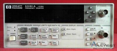 Hp - Agilent - Keysight 53181a-015 Rf Frequency Counter 10 Digitss 1.5ghz