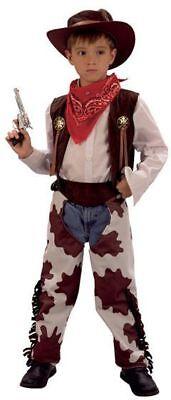 COWBOY .COWPRINT CHAPS FANCY DRESS COSTUME