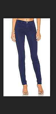 J BRAND SUPER SKINNY WASH IN BLUE steel blue colored mid rise jeans 26 Blue Steel Wash