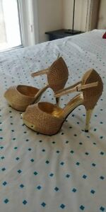 Gold First Sight Bridal Shoes - Brand new, never worn!