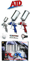 ATD 9 Piece HVLP Spray Gun Set