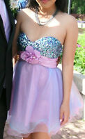 SHORT PROM DRESS / FORMAL DRESS - Cotton Candy Coloured
