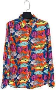 Retro Fish Print Blouse