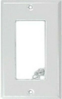 (3) Creative Accents White Steel Single Rocker Switch GFCI Decorative Wallplate Accent Wall Plates Decorative Steel