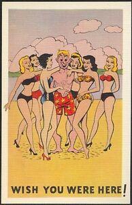 Twelve 1950s Vintage Unused 'Humorous Risque Cartoon' Post Cards Kingston Kingston Area image 8